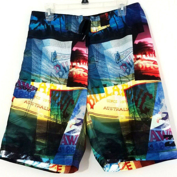 9e99574bc0 Billabong Swim | Mens Board Shorts Australia Themed 32 | Poshmark